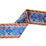 cinta seda azul reves