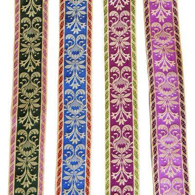 cintas seda cuatro colores