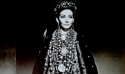 María Callas, Medea y su traje de vistas