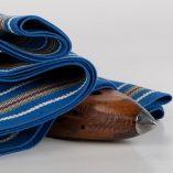 faja azul raya algodon