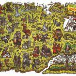 mapa mundo encantado