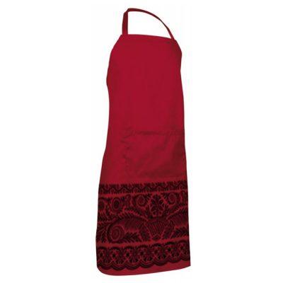 delantal rojo